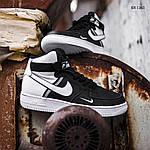Мужские кроссовки Nike Air Force 1 07 Mid LV8 (бело-черные) 1365, фото 6