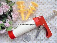 Экструдер кондитерский пластиковый с набором насадок