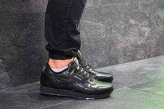 Мужские кроссовки черные классические весна осень прессованная кожа подошва пена 15\7235, фото 3