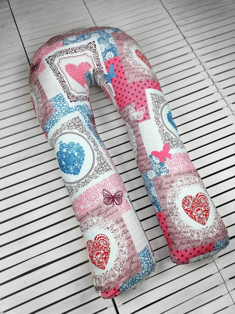 """Подушка для беременных, подушка обнимашка Подкова """"Хрустальное сердце"""""""