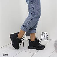 Женские кроссовки сникерсы на платформе и танкетке, А 20018, фото 1