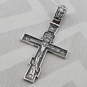 Серебряный солидный мужской крест из серебра 925 пробы