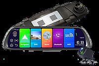 "Видеорегистратор DVR MR-810 Зеркало регистратор 10"" Экран сенсор - 2 камеры + GPS + WiFi + Android"