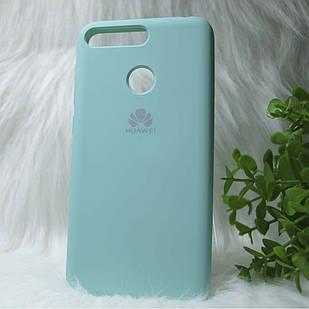 Силіконовий чохол Original Silicone case Huawei Y6 Prime 2018 Olive green (оливково-зелений)