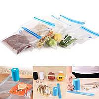 Вакуумный упаковщик для хранения продуктов Always Fresh Seal голубой