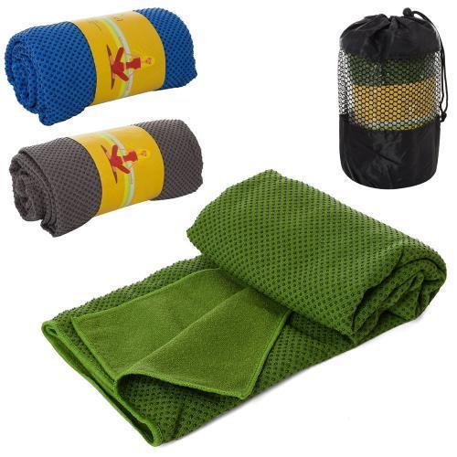 Полотенце тканевое для йоги и фитнеса с силиконовыми вкраплениями MS 2857-1