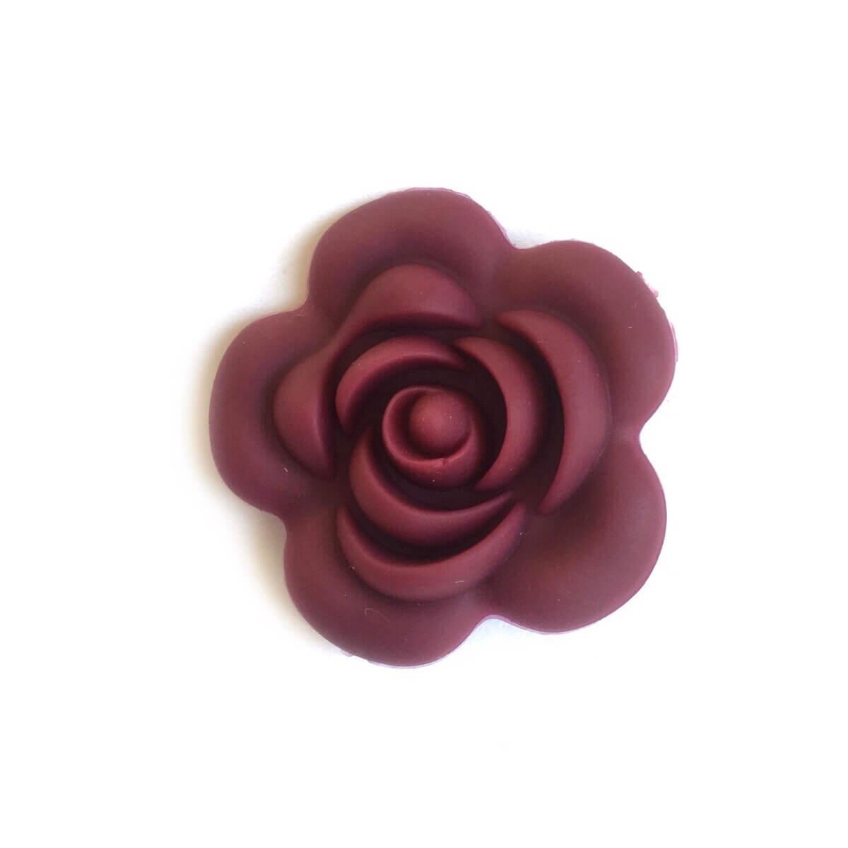 Роза большая (винный), силиконовые бусины