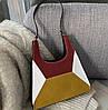 Модная сумка с замшевыми вставками и геометрическим дизайном, фото 4