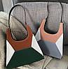 Модная сумка с замшевыми вставками и геометрическим дизайном, фото 3