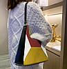 Модная сумка с замшевыми вставками и геометрическим дизайном, фото 5