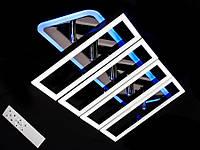 Светодиодная люстра с пультом-диммером и цветной подсветкой черный хром 11019-4