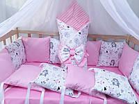 """Комплект в кроватку """"Exclusive Soft"""" (15 предметов)"""