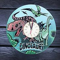 Красивые цветные детские часы из дерева «Эпоха динозавров», фото 1
