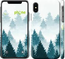 """Чехол на iPhone XS Акварельные Елки """"4720c-1583-535"""""""