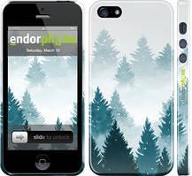 """Чехол на iPhone 5s Акварельные Елки """"4720c-21-535"""""""