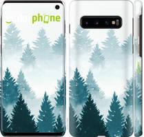 """Чехол на Samsung Galaxy S10 Акварельные Елки """"4720c-1640-535"""""""