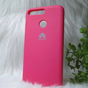 Силіконовий чохол Original Silicone case Huawei Y6 Prime 2018 Pink red (Рожевий)