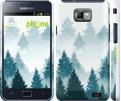"""Чохол на Samsung Galaxy S2 Plus i9105 Акварельні Ялинки """"4720c-71-535"""""""