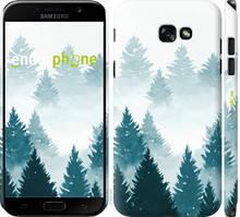 """Чехол на Samsung Galaxy A7 (2017) Акварельные Елки """"4720c-445-535"""""""