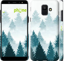 """Чехол на Samsung Galaxy A6 2018 Акварельные Елки """"4720c-1480-535"""""""