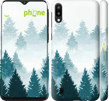 """Чехол на Samsung Galaxy M10 Акварельные Елки """"4720c-1661-535"""""""