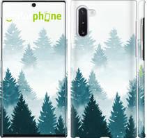 """Чехол на Samsung Galaxy Note 10 Акварельные Елки """"4720c-1718-535"""""""