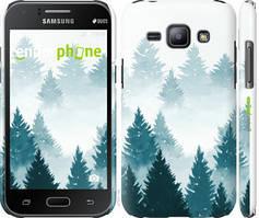 """Чехол на Samsung Galaxy J1 J100H Акварельные Елки """"4720c-104-535"""""""