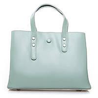 Утонченная женская сумка из натуральной кожи (30*22*13 см) ALEX RAI, 2-02 349 green