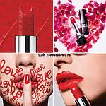 Святкове видання губної помади Dior Rouge Dior 999 valentine's Day 2020