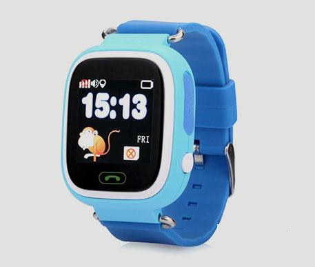 Детские часы-телефонс GPS трекером умные смартчасыQ80 Blue