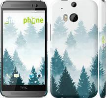 """Чохол на HTC One M8 dual sim Акварельні Ялинки """"4720c-55-535"""""""