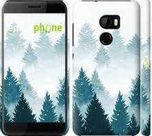 """Чехол на HTC One X10 Акварельные Елки """"4720c-995-535"""""""