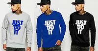 Свитшот мужской спортивный черный/серый/синий Nike Найк