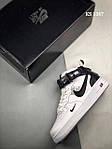 Чоловічі кросівки Nike Air Force 1 07 Mid LV8 (біло-чорні) 1367, фото 3