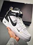 Чоловічі кросівки Nike Air Force 1 07 Mid LV8 (біло-чорні) 1367, фото 5