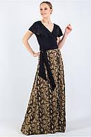 Летнее длинное платье-запах большого размера штапель, фото 1