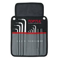 Набір шестигранних ключів з кулею TOPTUL 1,5-10мм 11ед. супердлинных в чохлі GPAQ1101