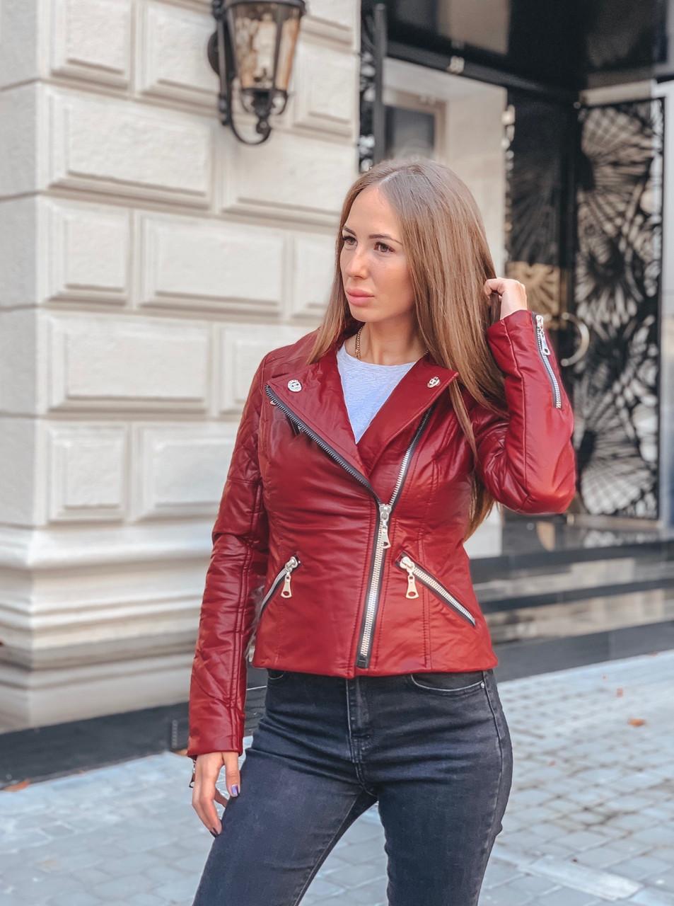 """Куртка женская из экокожи """"Косуха"""""""