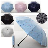 Зонтик MK 4101 (60шт) механич,трость64см,диам.94см,спица54см,в чехле, микс цветов, в кульке,25-5-5см