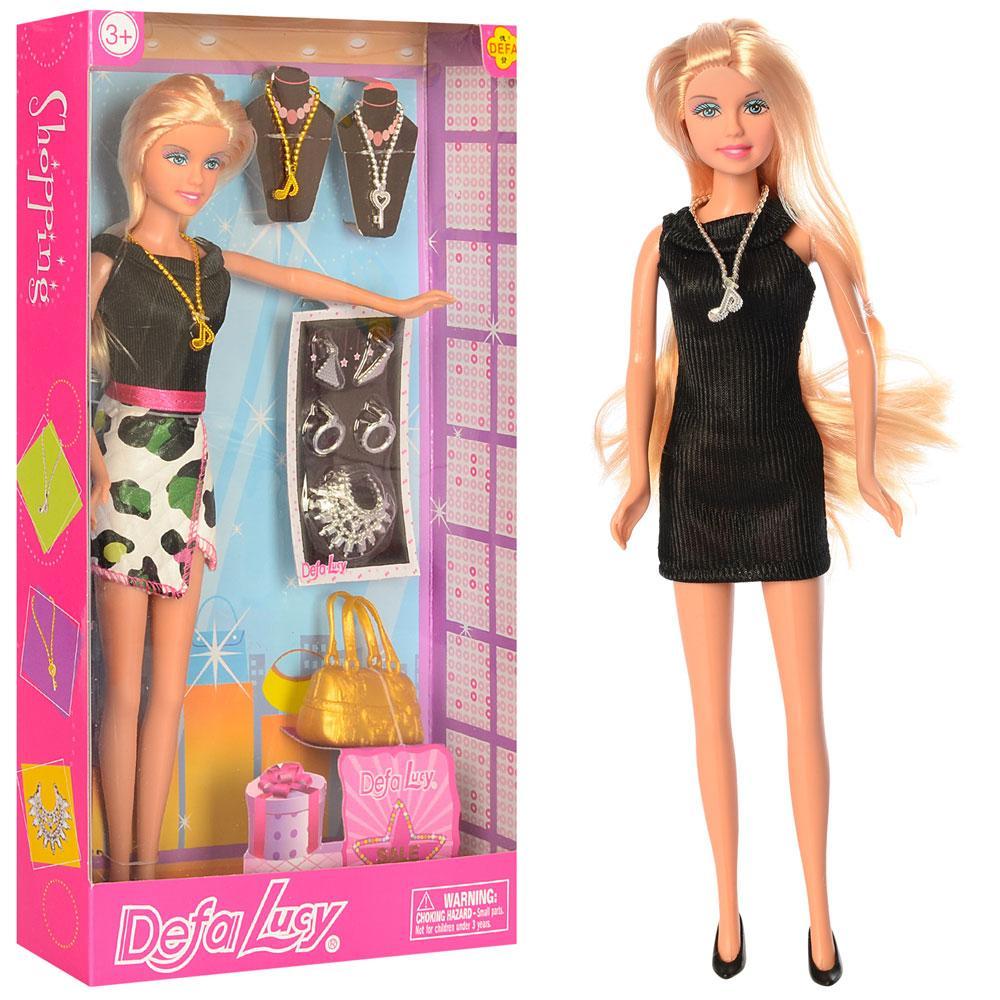Кукла DEFA 8307 (24шт) 28см, сумочка, аксессуары, 2вида,в кор-ке, 18-32-5см