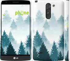 """Чехол на LG G3 Stylus D690 Акварельные Елки """"4720c-89-535"""""""