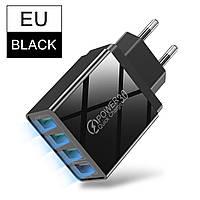 Сетевое зарядное устройство 4 port USB Voxlink Quick Charge 3,0 Black, фото 1