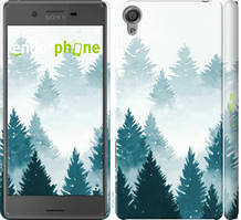 "Чехол на Sony Xperia X F5122 Акварельные Елки ""4720c-446-535"""