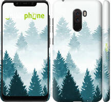 """Чехол на Xiaomi Pocophone F1 Акварельные Елки """"4720c-1556-535"""""""