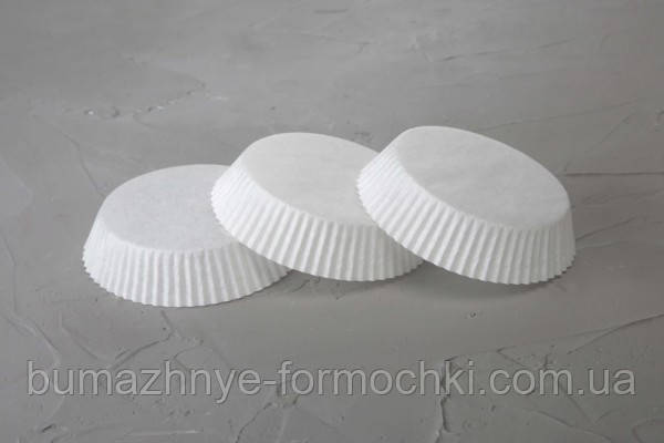 Белые тарталетки для выпекания тартов, 70х22.5 мм