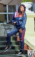 "А1071 Спортивный костюм на синтепоне ""ADIDAS"" синий"