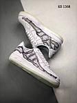 Чоловічі кросівки Nike Air Force 1 Low Skeleton (білі) 1368, фото 3