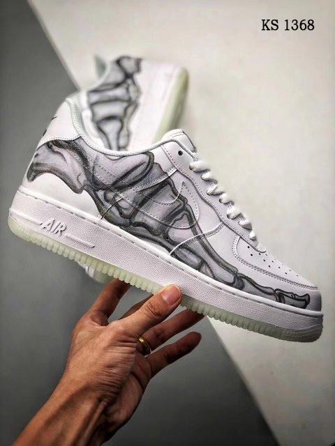 Чоловічі кросівки Nike Air Force 1 Low Skeleton (білі) 1368