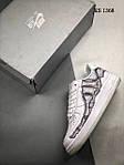 Мужские кроссовки Nike Air Force 1 Low Skeleton (белые) 1368, фото 2