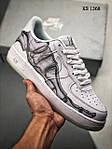 Чоловічі кросівки Nike Air Force 1 Low Skeleton (білі) 1368, фото 4